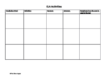 ELA Centers for Middle School