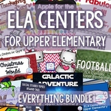 ELA Centers for Upper Elementary Bundle for the Whole Year