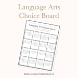 ELA Choice Board
