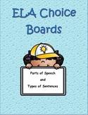 ELA Choice Boards