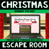 Christmas ELA Digital Escape Room - Common Core Aligned