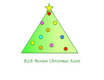 ELA Christmas Review Scoot Game