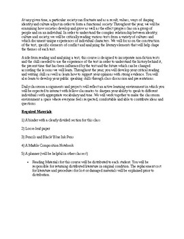 ELA Class Contract