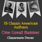 ELA Classroom Decor: American Author Pennant Banner