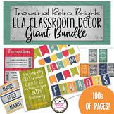 ELA Classroom Decor Mega Bundle: Industrial Retro Brights Theme