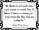 ELA Classroom Decoration - Author Quotes on Reading & Writing, B&W Frames