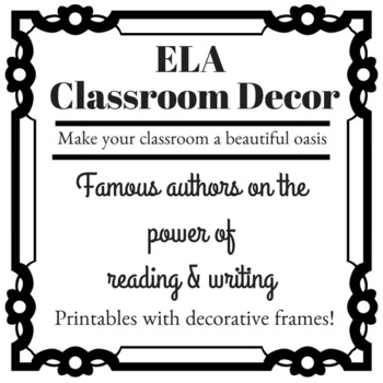 ela classroom decoration author quotes on by lit lovers unite