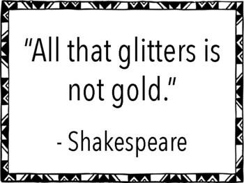 ELA Classroom Decoration - Famous Author Quotes in Minimalist Frames