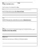ELA Close Read and Vocabulary Sheet