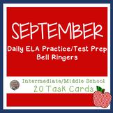 ELA September Bell Ringers For Upper Elementary/Middle School