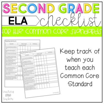 ELA Common Core Checklist 2nd Grade