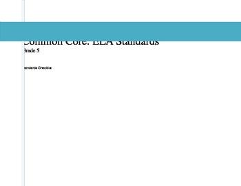 ELA Common Core Checklist: Grade 5