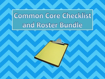 ELA Common Core Checklist and Roster Bundle Grades 9-10