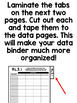 5th Grade ELA Common Core Data Sheets (Teacher Data Binder)