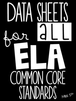 5th Grade ELA Common Core Data Sheets (Teacher Data Binder)