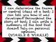 ELA Common Core Grade 9/10 Bulletin Board Pack -- Red/Black/White Chevron