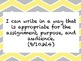"""ELA Common Core """"I Can"""" Standards and Word Wall Words for Grades 9/10"""