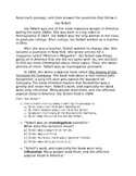 ELA Common Core Informational Text Reading Comprehension 4th Grade