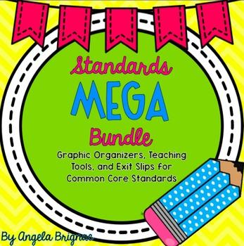 ELA Common Core MEGA Bundle: Graphic Organizers and Exit Slips {CCSS Aligned!}