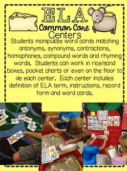ELA Common Core No Prep Center Bundle