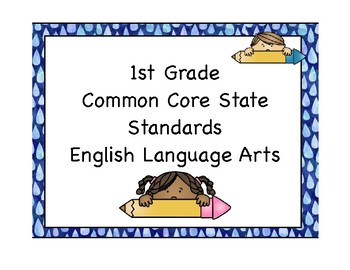 ELA Common Core Posters *1st Grade*