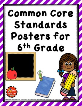 ELA Common Core Posters 6th Grade