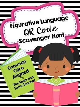 ELA Common Core QR Code Scavenger Hunt: Figurative Language
