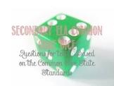 ELA Common Core Question Stem Dice, grades 8-12