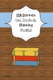 ELA Common Core Standards Check List Unit Planner