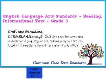 ELA COMMON CORE STANDARDS: GRADE 3 FULL SIZE BINDER FLIP CHARTS