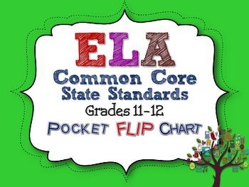 ELA COMMON CORE STANDARDS: GRADES 11-12 POCKET FLIP CHARTS
