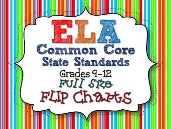 ELA COMMON CORE STANDARDS: GRADES 9-12 FULL SIZE BINDER FL