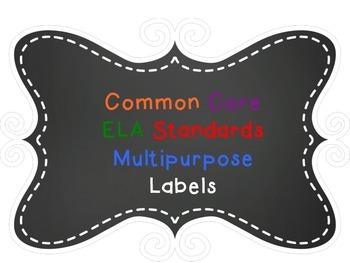 ELA Common Core Standards Labels