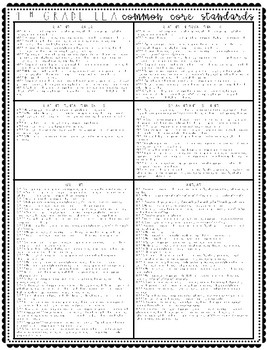 ELA Common Core Standards Reference Page FREEBIE {Grade 4}