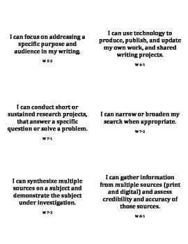 ELA Common Core Standards Tracker (grades 6-12)