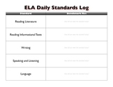 ELA Common Core Standards Tracker (grades 6-12)