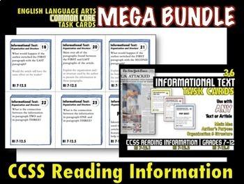 ELA Common Core Task Cards - MEGA Bundle - 326 Task Cards - Grades 7-12