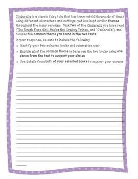 ELA Common Core Test Prep:  Fairy Tale Essay Writing On Demand!