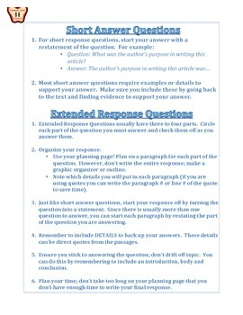 ELA Common Core Test Taking Tips