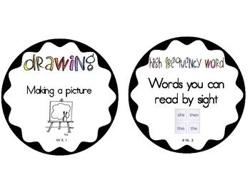 ELA Vocabulary Cards