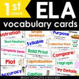 ELA Vocabulary Cards for First Grade {Common Core Aligned}