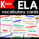 ELA Vocabulary Cards for Kindergarten {Common Core Aligned}