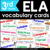 ELA Vocabulary Cards for Third Grade {Common Core Aligned}