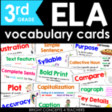 ELA Common Core Vocabulary Cards-Third Grade