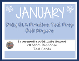 ELA Common Core Winter/January Task Cards for Upper Elemen