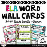 ELA Word Wall Editable 3rd-6th BUNDLE - Chevron