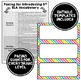 ELA Word Wall Editable - 3rd-6th BUNDLE - Rainbow Colors