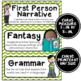 ELA Word Wall Vocabulary Cards - 4th Grade - Chevron