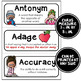 ELA Word Wall Vocabulary Cards - 4th Grade - No Backgrounds
