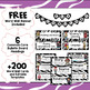 ELA Common Core Word Wall Vocabulary Cards - 4th Grade - Zebra